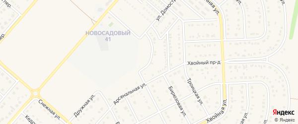 Улица Домостроителей на карте Новосадового поселка с номерами домов