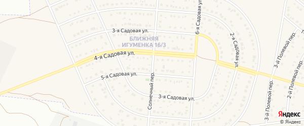 Солнечный переулок на карте села Ближней Игуменки с номерами домов
