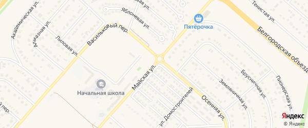 Майская улица на карте села Ближней Игуменки с номерами домов