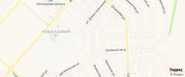 Улица 2-й Домостроителей на карте Новосадового поселка с номерами домов