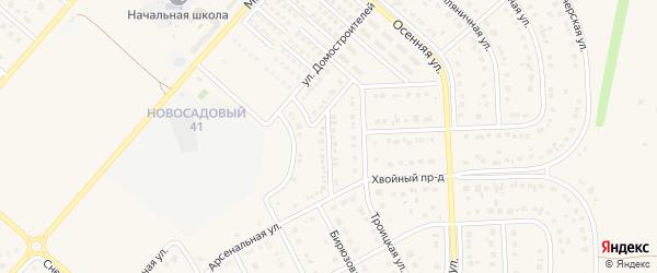 Проезд 2-й Домостроителей на карте Новосадового поселка с номерами домов