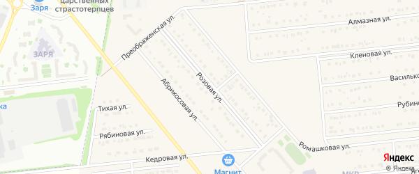Розовая улица на карте поселка Разумного с номерами домов