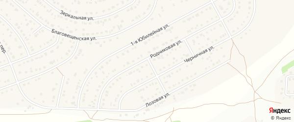 Лозовой переулок на карте Новосадового поселка с номерами домов
