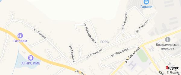 Улица Маяковского на карте поселка Разумного с номерами домов