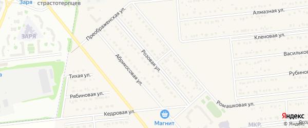 Ромашковый 1-й тупик на карте Белгорода с номерами домов