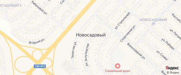 Дорожная улица на карте Новосадового поселка с номерами домов
