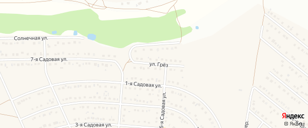 Улица Грез на карте села Ближней Игуменки с номерами домов