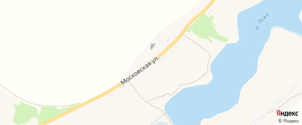 Московская улица на карте хутора Бугровки с номерами домов