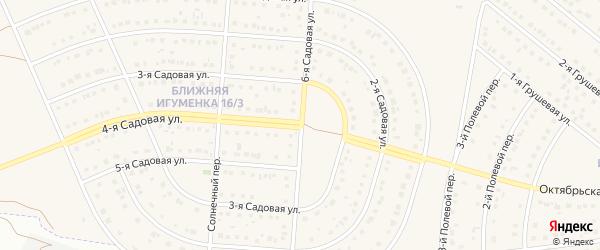 6-я Садовая улица на карте села Ближней Игуменки с номерами домов