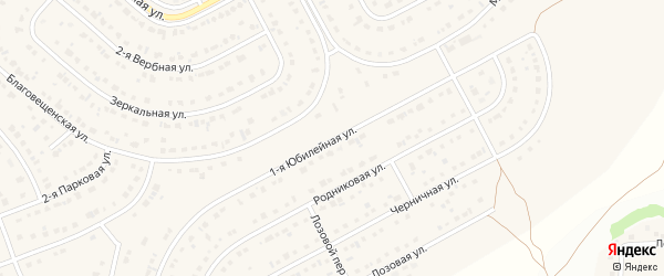 Юбилейная улица на карте Новосадового поселка с номерами домов
