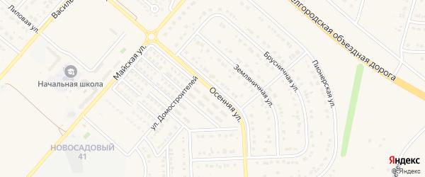 Осенняя улица на карте Новосадового поселка с номерами домов
