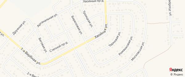 Хвойная улица на карте Новосадового поселка с номерами домов