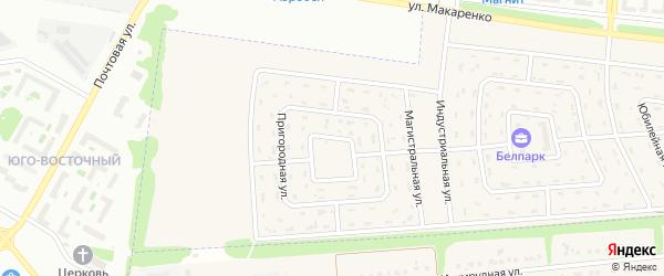 Парковая улица на карте Беловского села с номерами домов