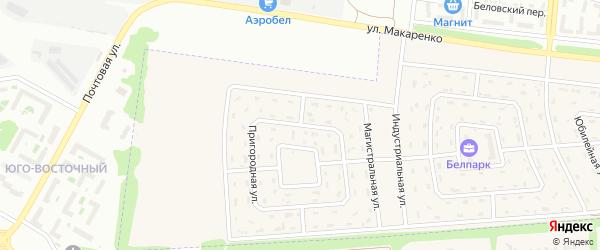 Пригородная улица на карте Беловского села с номерами домов
