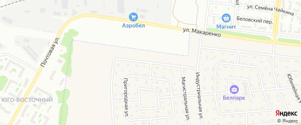 Магистральная улица на карте Беловского села с номерами домов