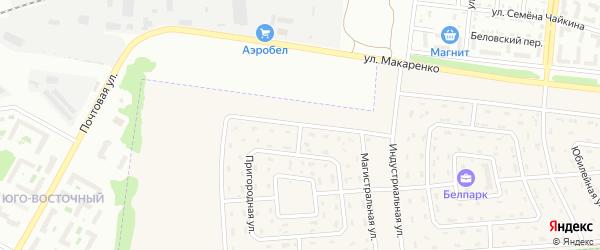 Магистральная улица на карте поселка Разумного с номерами домов