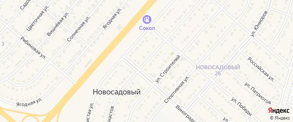 Улица Энтузиастов на карте Новосадового поселка с номерами домов