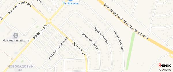 Земляничная улица на карте Новосадового поселка с номерами домов