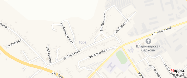 Улица Горького на карте поселка Разумного с номерами домов