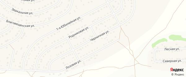 Черничная улица на карте Новосадового поселка с номерами домов