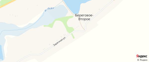 Заречная улица на карте Берегового-Второго села с номерами домов