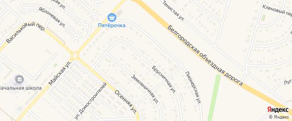 Брусничная улица на карте Новосадового поселка с номерами домов