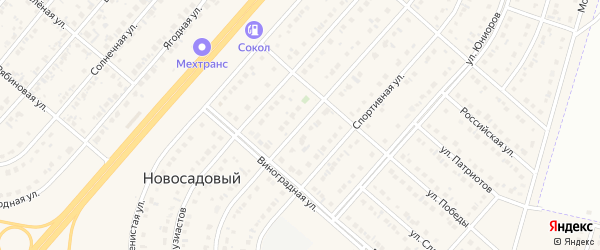 Улица Строителей на карте Новосадового поселка с номерами домов