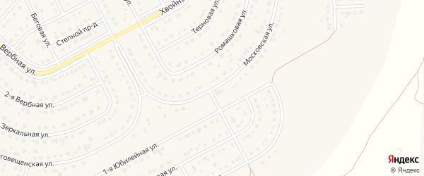 Московская улица на карте Новосадового поселка с номерами домов