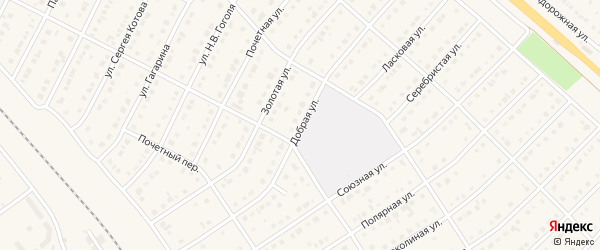 Добрая улица на карте поселка Разумного с номерами домов