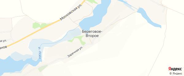 Карта Берегового-Второго села в Белгородской области с улицами и номерами домов