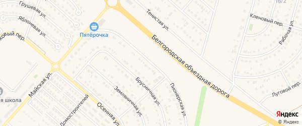 Пионерская улица на карте Новосадового поселка с номерами домов