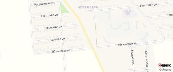Полевая улица на карте поселка Разумного с номерами домов