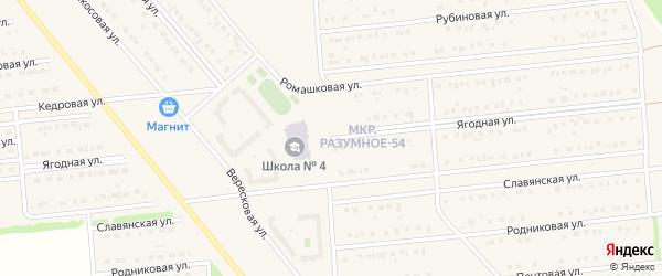 Ягодная улица на карте поселка Разумного с номерами домов