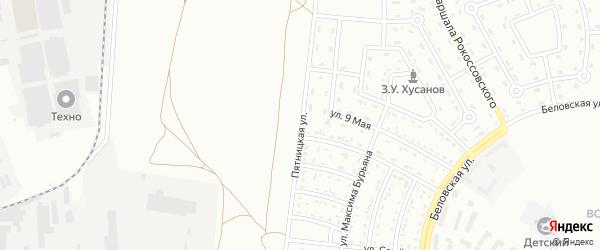 Пятницкая улица на карте Белгорода с номерами домов