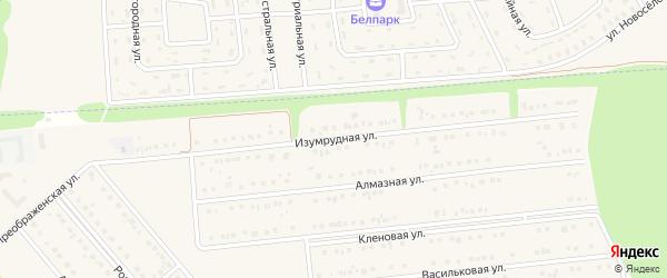 Изумрудная улица на карте Белгорода с номерами домов