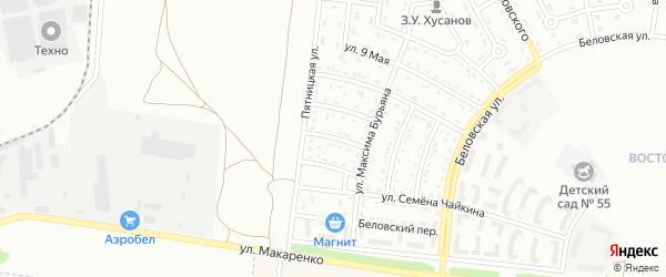 Пятницкий 2-й переулок на карте Белгорода с номерами домов