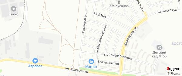 Почтовый 2-й переулок на карте Белгорода с номерами домов