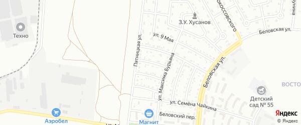 Пятницкий 1-й переулок на карте Белгорода с номерами домов