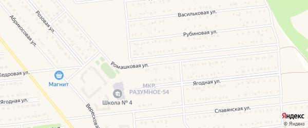 Ромашковая улица на карте поселка Разумного с номерами домов