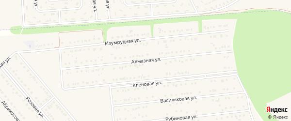 Алмазная улица на карте поселка Разумного с номерами домов
