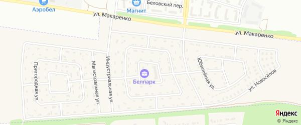 Первомайская улица на карте Беловского села с номерами домов