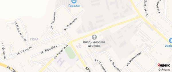 Улица Бельгина на карте поселка Разумного с номерами домов