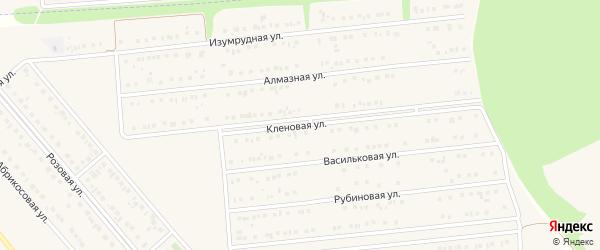 Кленовая улица на карте поселка Разумного с номерами домов