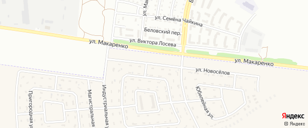 Индустриальная улица на карте Беловского села с номерами домов