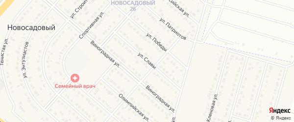 Улица Славы на карте Новосадового поселка с номерами домов