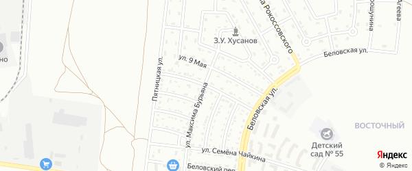 Большетроицкая улица на карте Белгорода с номерами домов