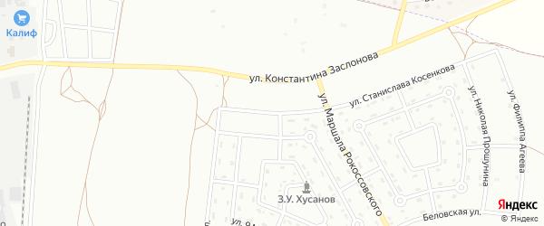 Улица Станислава Косенкова на карте Белгорода с номерами домов