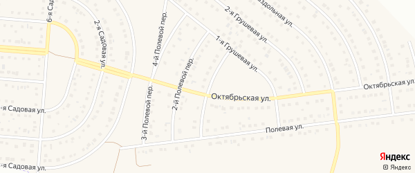1-й Полевой переулок на карте села Ближней Игуменки с номерами домов