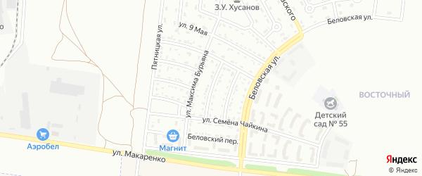 Большетроицкий 1-й переулок на карте Белгорода с номерами домов