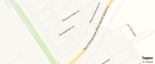 1 пер. Волшебный на карте поселка Разумного с номерами домов